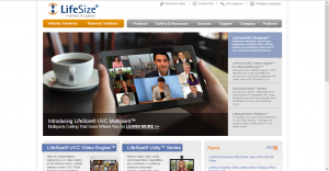 LifeSize's 2009 homepage
