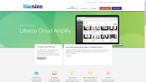 LifeSize's 2014 homepage
