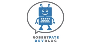 Robert Pate's friendly robot logo